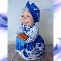 Кукла грелка Баба на чайник