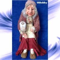 Кукла Баба Яга с Совушкой и путеводным клубком 9