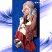 Кукла Баба Яга с Совушкой и путеводным клубком 8