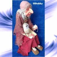 Кукла Баба Яга с Совушкой и путеводным клубком 7
