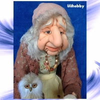 Кукла Баба Яга с Совушкой и путеводным клубком2