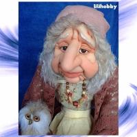 Кукла Баба Яга с Совушкой и путеводным клубком