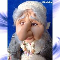 Кукла Баба Яга с совой (2)