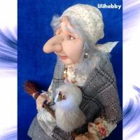 Кукла Баба Яга с совой (6)