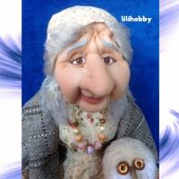 Кукла Баба Яга с совой (4)