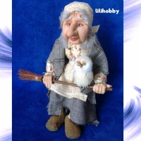 Кукла Баба Яга с совой (8)