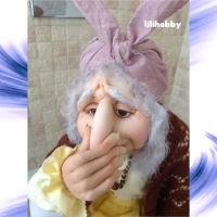Кукла Баба Яга с туалетной бумагой