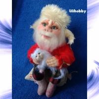 Кукла Домовой с котиком