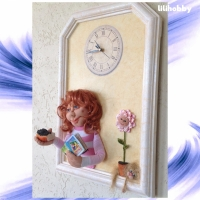 3D панно часы Красиво живем!