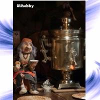 Кукла Баба Яга у самовара в теплой компании