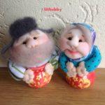 Кукла сувенир Домовята в горшочках