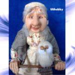 Кукла Баба Яга с совой (7)