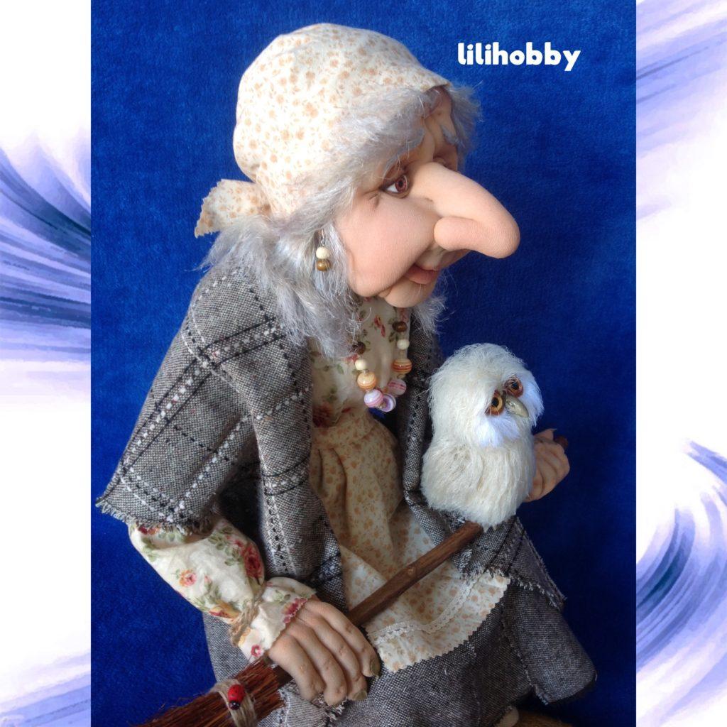 Кукла Баба Яга с совой (5)
