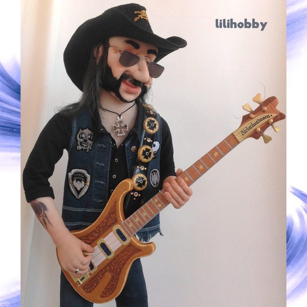 Кукла Бас гитарист Лемми 16